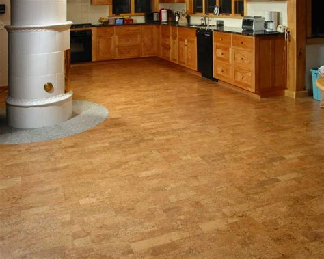 Kitchen Design With Cork Flooring Ideas For Big Space Cork Kitchen Flooring