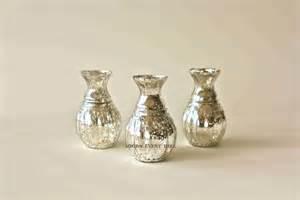 silber vasen silver mercury glass bud vase