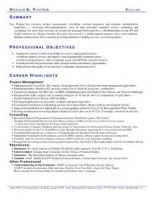 Exles Of Professional Summary For Resumes by Career Summary Exles For Resume Resume Format Pdf