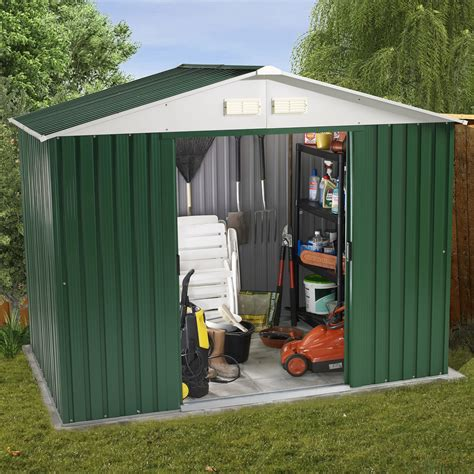 Royal Outdoor Shed by Royal 8ft X 6ft 2 61m X 1 83m Metal Apex Storage Shed Next Day Delivery Royal 8ft X 6ft 2