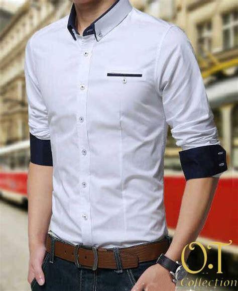 Kemeja Kerja Pria Tangan Panjang Arrow Original 7 jual beli kemeja pria kerja kantor formal lengan panjang warna putih model korea slim fit