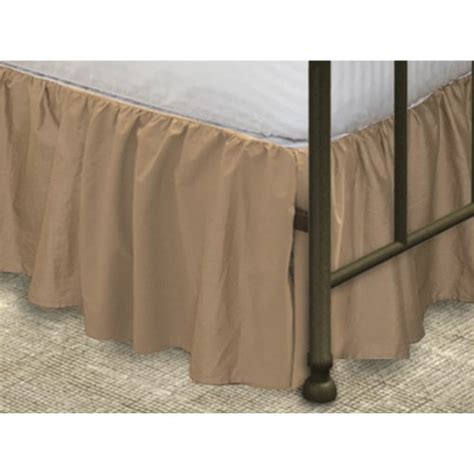 Bedskirt For Bed With Footboard by Poly Cotton Ruffled Bed Skirt With Split Corners