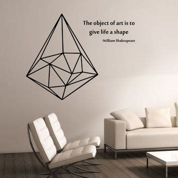 triangle bedroom design geometric triangle with quote vinyl wall from