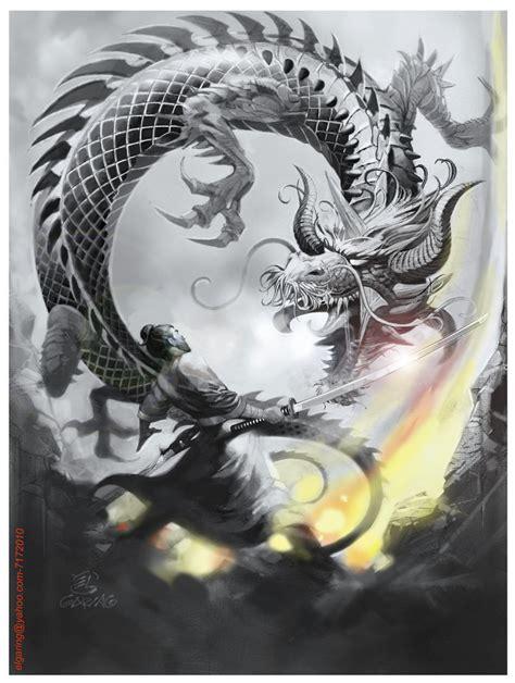 design vs art dragon samurai el3 by elshazam on deviantart