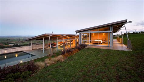 u home tiered u shaped slope home features exposed steel elements
