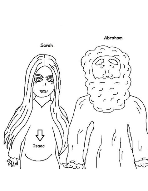 coloring page of abraham and sarah sarah and abraham free colouring pages