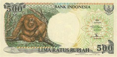Uang Kuno 500 Rupiah Orang Utan Tahun 1993 uang kuno kedaluwarsa 500 rupiah