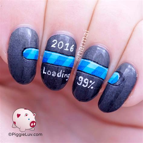 new year nail design piggieluv 2016 is loading new year s nail