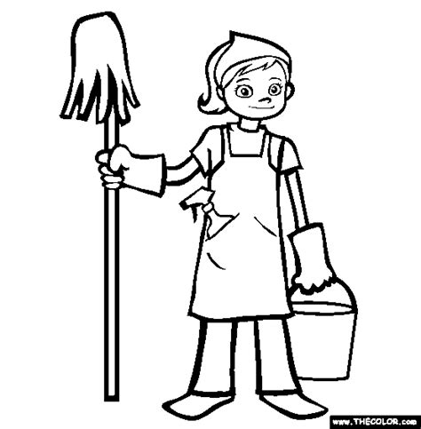 clean house coloring page clean the house coloring pages