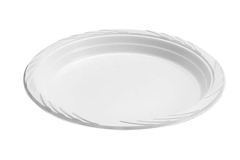 100 White 9 Quot Clear Plastic Party Plates Dinner Disposable 100 Clear White Wedding