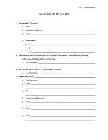 biography outline template best photos of biography paper outline template