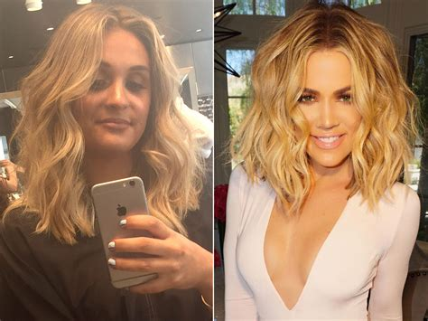khloe kardashian dyes hair blonde photos style news we tried it khlo 233 kardashian s colorist tracey cunningham
