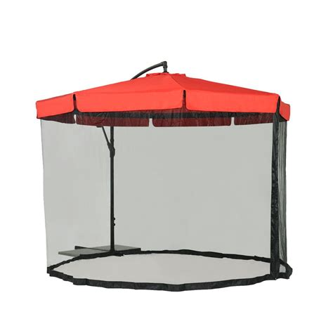 Sunjoy Offset Netted 9.8 ft. Steel Cantilever Patio