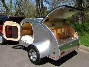 Teardrop trailers an idea that dates back to the 40 s provide the
