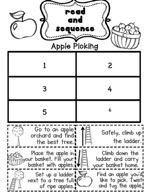 Sequencing Worksheets 2nd Grade by S Grade Snippets September Literacy Centers