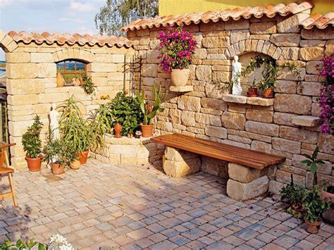 gartengestaltung mediterran garten terrasse mediterran kunstrasen garten