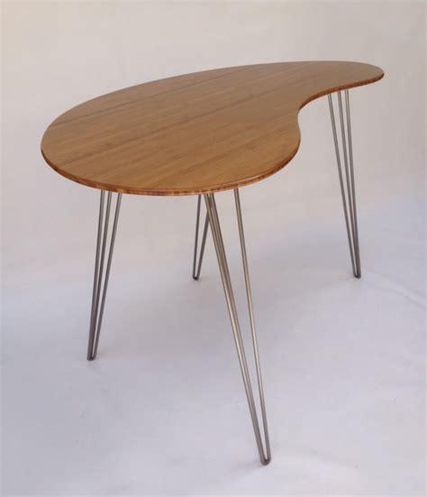Mid Century Modern Style Standing Desk Kidney Bean Shape Kidney Bean Shaped Desk