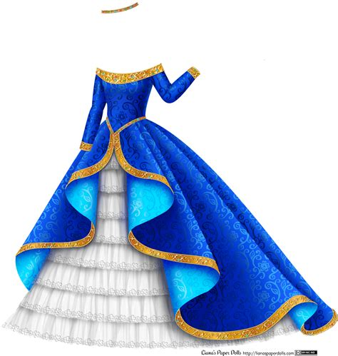 Home Design Story More Gems blue and gold princess gown with white tulle plus