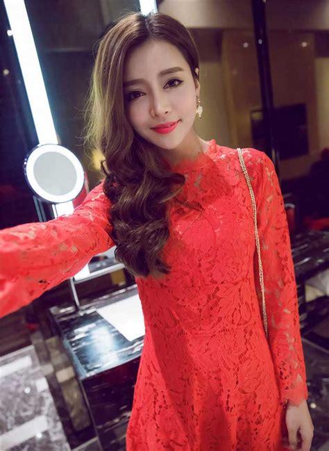 dress brokat natal lengan panjang modis toko baju wanita murah goldendragonshop