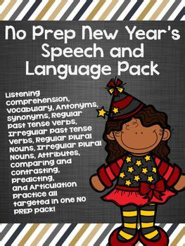 new year language activities 17 best images about speech language new year s on