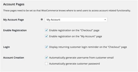 Woocommerce Account And Email Settings Woocommerce My Account Template