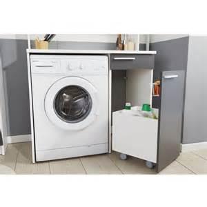 meuble rangement pour machine 224 laver quot verzak quot 104cm gris