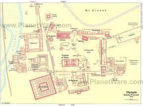 Olympia Greece Map by The Augean Stables Home