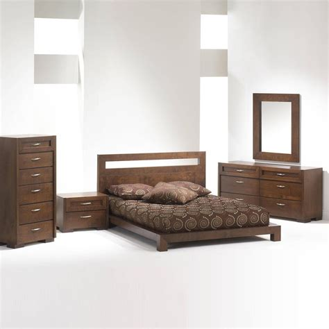 Bedroom Sets by Madrid Platform Bed Bedroom Set Brown King Bedroom Sets