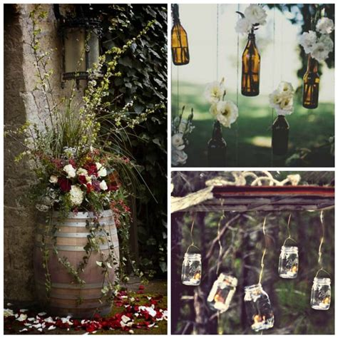 Home Made Wedding Decorations by 7 Easy Rustic Wedding Reception Ideas Uniquely Yours