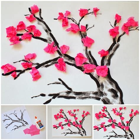 How To Make A Cherry Blossom Tree Out Of Paper - wonderful diy cherry blossom tissue papaer flower