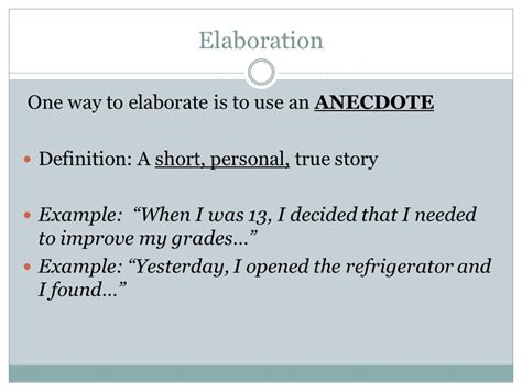 exle of anecdote expository writing writing unit ppt