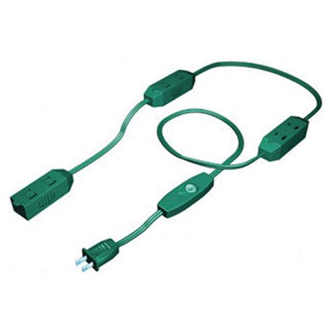 9 ft green christmas extension cord 9ftextreecrd
