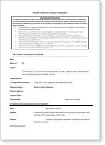 student tenancy agreement template sle tenancy agreement student letting co