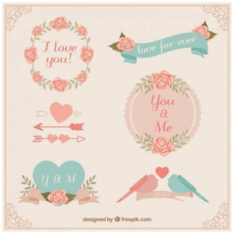 imagenes amor vintage insignias vintage de amor descargar vectores premium