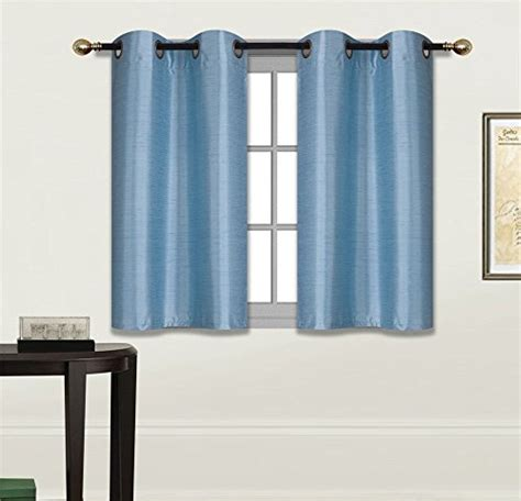 small window blackout curtains elegant home 2 panels tiers grommets small window