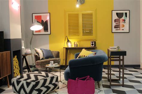 color blocking living room colour blocking