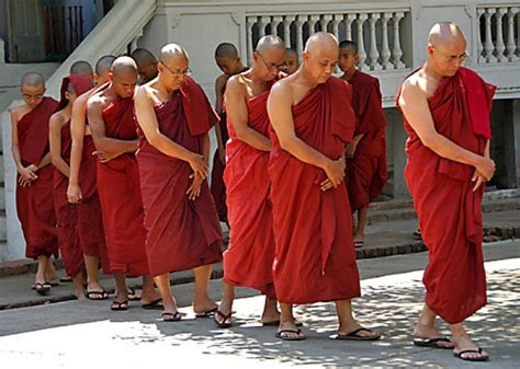 What Lies Beneath The Robes Are Buddhist Monasteries Suitable Places For Children Adele Buddhist Monk Statue And Their Appearance Burmese Buddha