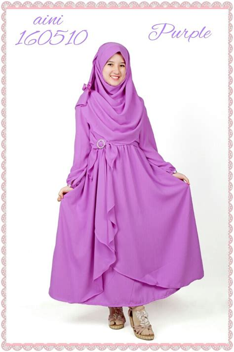 desain gamis anak baju gamis anak jual baju muslim gamis anak putih haura