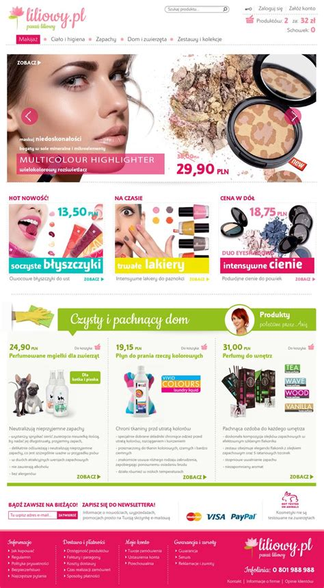 web design layout pinterest shop for a cosmetic company design www pinkelephant pl