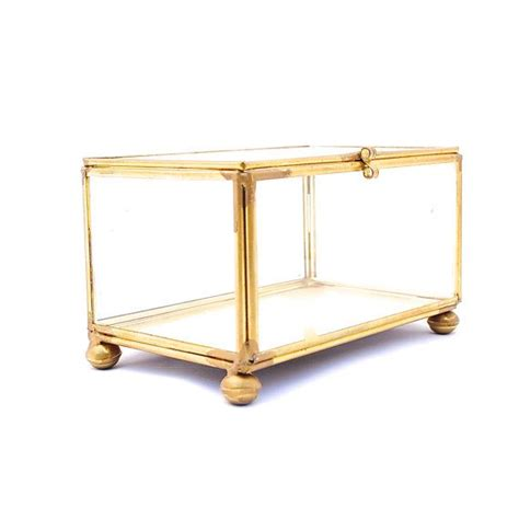 brass and glass display cabinet vintage brass glass jewelry case glass display case