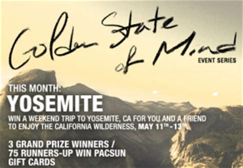 pacsun printable gift cards pacsun s golden state of mind sweepstakes
