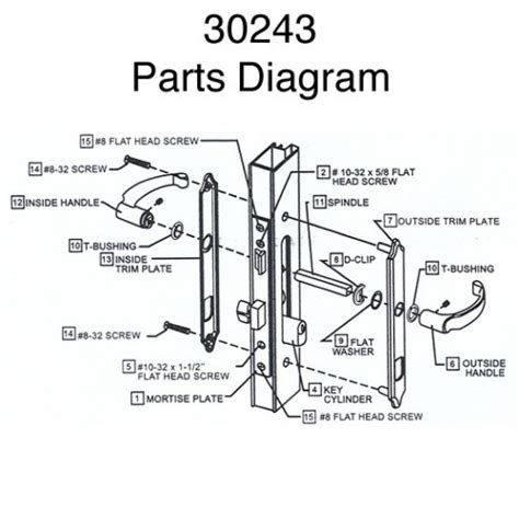 door handle parts wonderful door hardware parts with diagram of