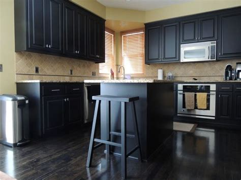 Refinishing Maple Kitchen Cabinets Maple Cabinets Refinished In Black Our Work Black The O Jays And