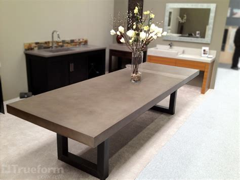 contemporary dining table by trueform concrete trueform