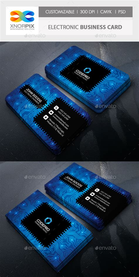 electronic business card templates electronic business card by axnorpix graphicriver