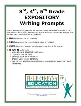 Essay Writing Topics For Grade 5 by Expository Writing Prompts Grade 3 5 Staar And Cc Aligned Tpt
