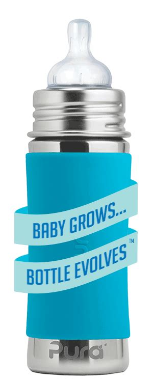 Pura Stainless Steel Infant Bottle 11oz325ml With Xl Sipper Mura pura 174 11oz toddler sippy bottle with sleeve pura