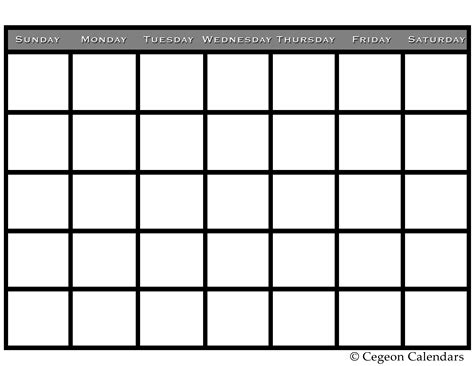 Calendar Template Free Printable free templates for calendars calendar template 2016