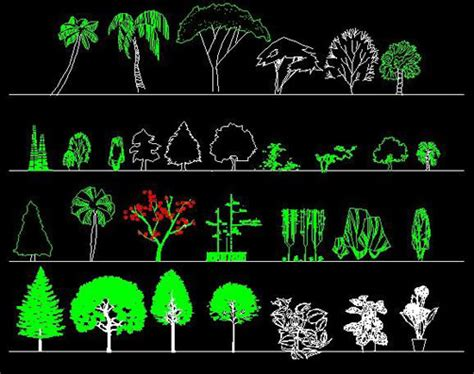 tree templates for autocad garden plants trees cad blocks autocad blocks crazy 3ds