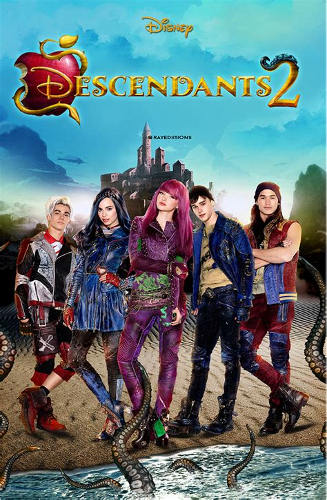 coloring book mixtape release date descendants 2 fanmade poster by raybarros on deviantart
